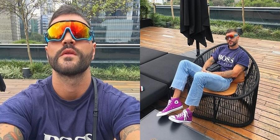 ... Ótica Moderna Prime. André Tajra - ItBoy e Editor de moda usando seu  óculos de sol da Oakley 9f5f304082